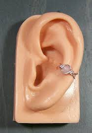wire ear cuffs small quartz and pink wire ear cuff jewelry by