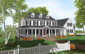 Front Porches On Colonial Homes Types Of Colonial Houses Home Planning Ideas 2018