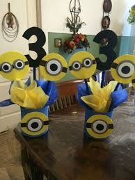 minions centerpieces photo frame party prop minion to take by titaspartycreations