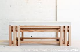 Modern Furniture Woodworking Plans by Homemade Modern Ep15 Concrete Wood Coffee Table