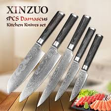 damascus kitchen knives for sale 5 pcs kitchen knife set 67 layer japanese vg10 damascus steel