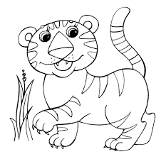 baby tiger coloring page free printable coloring pages