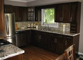 kitchens with dark cabinets and dark countertops globe glass