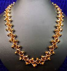 gold necklace patterns images Free pattern for beaded necklace gold beads magic jpg