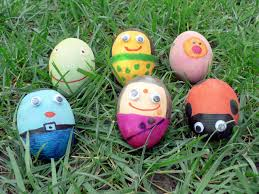 holi kids craft cute craft for holi egg puppets crafts