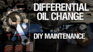 rear differential oil change youtube