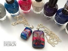 diy resin necklace images Resin art nail polish diy pendant tutorial jpg