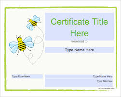 sample certificate templates for kids 9 free documents in pdf psd