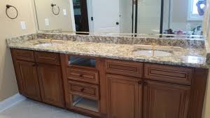 Granite Bathroom Vanity Giallo Napoli Granite Bathroom Vanity Install For The Rafferty