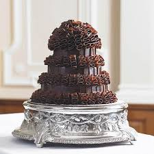 marriage cake chocolate ruffle wedding cake bettys