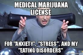 Eating Disorder Meme - medical marijuana license for anxiety stress and my eating