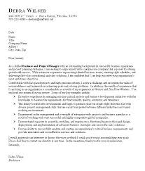 sample cover letter business and project manager recentresumes com