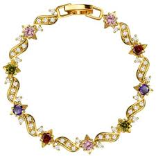crystal bracelet price images Dropshipping for retro colorful 18k gold plated cubic zirconia jpg