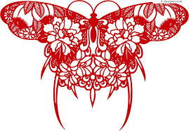 4 designer beautiful butterfly silhouette design vector material