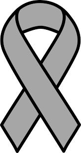 gray ribbon clipart grey brain cancer ribbon