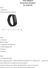 ja 1638 00 heart rate monitor user manual users manual joint