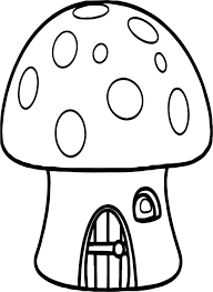 mushroom house gingerbread house coloring page wecoloringpage