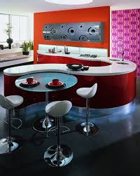 Pedestal Bar Table Kitchen Appliances Red Curved Kitchen Cabinet And Pedestal Round