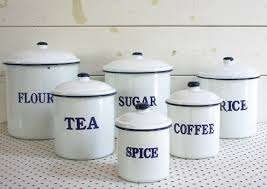 enamel kitchen canisters kitchen canisters white sougi me