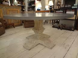 Zinc Top Bar Table Remove Rust At Zinc Dining Table Dans Design Magz