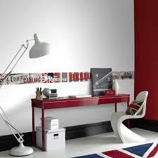 chambre london ado fille frise murale et bordure adhésive et papier leroy merlin