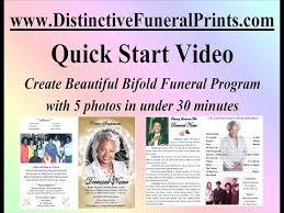 Beautiful Funeral Programs Quick Start Distinctive Funeral Prints Youtube