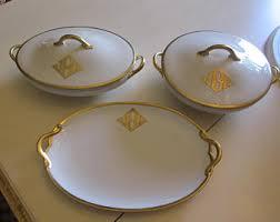 monogrammed serving dishes haviland monogram etsy