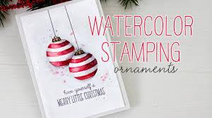watercolor sting ornaments