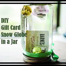 gift card snow globe diy gift card snow globe in a jar the diy
