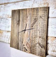 rustic barn wood clock reclaimed wood clock large unique wall