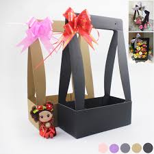 gift basket wrapping paper aliexpress buy 3pcs folding rectangular flower packaging