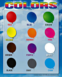 bold colors amazon com colors chart by school smarts 12 bold colors fully