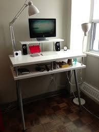 white ikea desk white ikea floating desk with floor lamp and