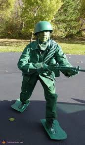 Green Army Man Halloween Costume Toy Soldier Costume