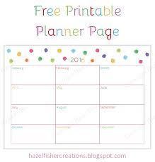 printable january 2016 weekly planner hazel fisher creations rainbow colours and free printable planner page