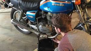 1978 honda cb400t hawk oil change part 1 youtube