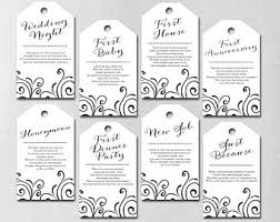 bridal shower wine basket printed milestone wine tags wine tags bridal shower wine poem
