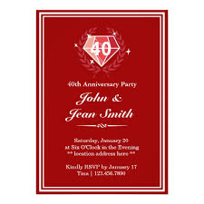 what is 40th wedding anniversary personalized 40th wedding anniversary invitations