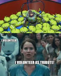 I Volunteer Meme - i volunteer i volunteer as tribute toy story hunger games