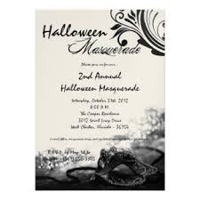 halloween masquerade party invitations u0026 announcements zazzle