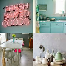 Retro Style Kitchen Table Kitchen Style Retro Kitchen Style Mint Cabinets Mint Backsplash