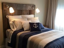 nautical headboards reclaimed barnboard headboard with built in lighting fabricated by
