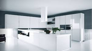 White Kitchen Design Ideas White Modern Kitchen Designs With Glossy Kitchen Cabinet And Range