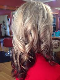 platinum hairstyles with some brown platinum blonde with chocolate lowlights and burgundy underneath