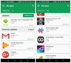 how to update apps android play s my apps section gets new tabs and sorting