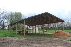 Pictures Pole Barns Open Shelter And Fully Enclosed Metal Pole Barns Smith Built