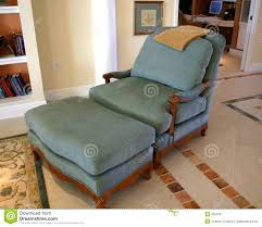 Leather Reading Chair And Ottoman Comfortable Chair And Ottoman Royalty Free Stock Photos Image