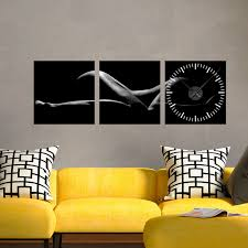 wall clock decal sensuality time ambiance sticker touch