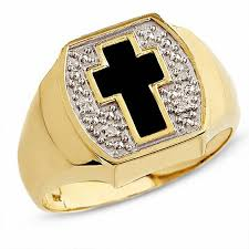 cross gold rings images Men 39 s onyx cross ring in 10k gold with diamond accents gemstone jpg