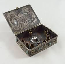 travel menorah judaica travel hannukiah menorah l box silver copper